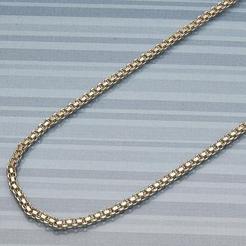 Gold Layered Women Basic Necklace, by Folks Jewelry