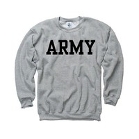 Army Black Knights Grey Crewneck Sweatshirt by Sports