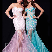 Sweetheart Lace Embroidered Corset Prom Dress By Panoply 14671