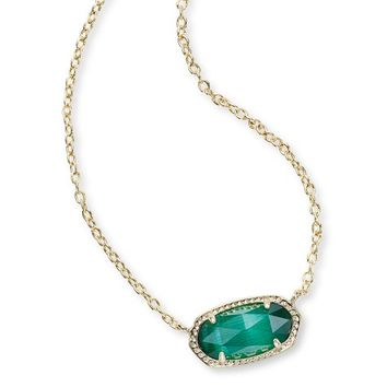 Elisa Gold Pendant Necklace in Emerald | Kendra Scott