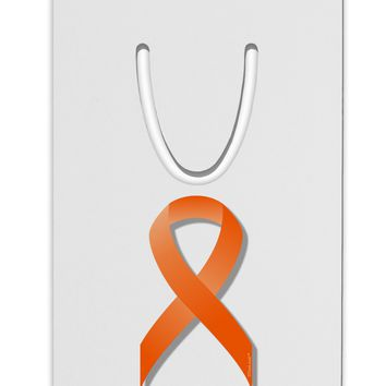 Leukemia Awareness Ribbon - Orange Aluminum Paper Clip Bookmark