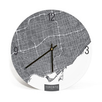 Toronto, Canada, Map Art Wall Clock