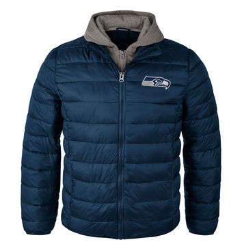 Seattle Seahawks Three Point NFL Full Zip Hooded Jacket