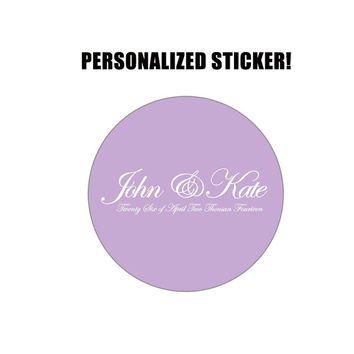 Wedding Sticker With Date - Personalized Wedding Sticker - Customized Wedding Sticker