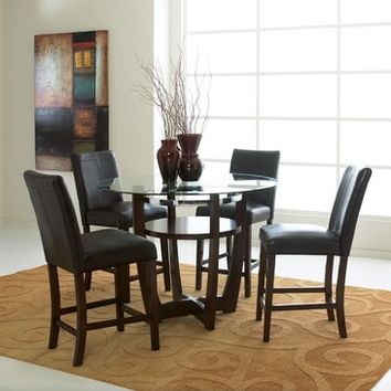 Standard Furniture Apollo 5 Piece Counter Height Dining Room Set