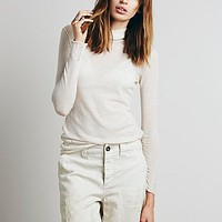 Free People Womens Ladder Fine Gauge Turtleneck
