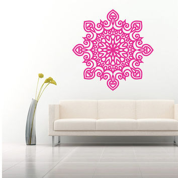 Wall Decal Vinyl Sticker Decals Art Home Decor Mural Mandala Ornament Indidan Geometric Moroccan Pattern Yoga Namaste Flower Om Bedroom AN50