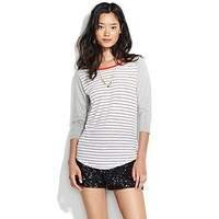 Women's TEES & TANKS - tees - Striped Flyball Tee - Madewell