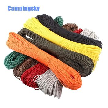 Paracord 2mm one stand Cores Paracord for Survival Parachute Cord Lanyard Camping Climbing Camping Rope Hiking