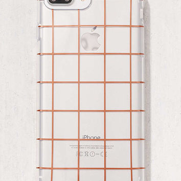Rose Gold Grid iPhone 6 Plus/7 Plus Case | Urban Outfitters