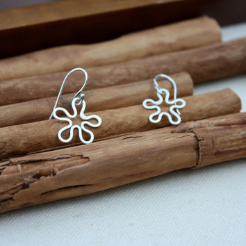 Flowers Sterling Silver Earrings Mothers Day by KittyStoykovich