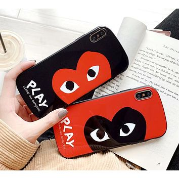 PLAY tide brand personality eye iphone8 mobile phone shell all-inclusive curved protective cover