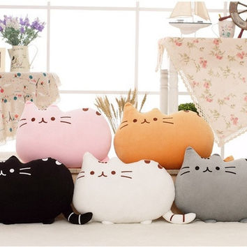 Novelty Baby Soft Plush Stuffed Animal Doll Toys Cats Bolster Wedding Birthday Children Gift Pillow Cushion = 5860358081
