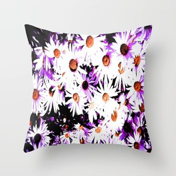Painted daisy  Throw Pillow by Jessica Ivy