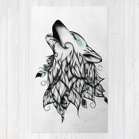 The Wolf Rug by LouJah
