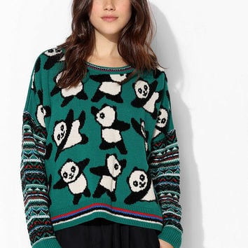 Coincidence & Chance Party Panda Sweater - Urban Outfitters