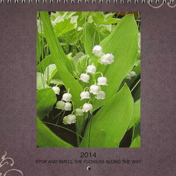2014 WALL Calendar Flower Photos 12 different full color photos A Year in Flowers
