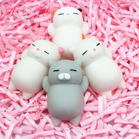 2017 new novelty gift Big  Little cat Vent Ball Action Figure Toy Soft Robot Doll Relax Squeeze Stress Relief.