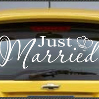 Vinyl Auto Stickers Decal Wedding Decor Just by WallsThatTalk