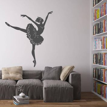 ik1290 Wall Decal Sticker Ballet dancer dancing pointe bedroom children