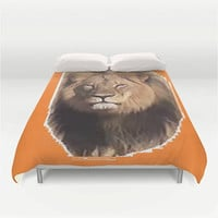 Cecil the Lion Duvet Cover Lion Duvet Cover Bedroom Decor Orange Lion Duvet Cover I Love Cecil Bedding Save Endangered Lions