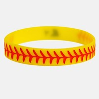 Softball Yellow Motivational Wristband