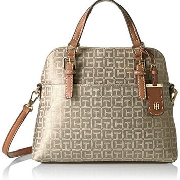 Tommy Hilfiger Julia Jacquard Convertible Dome Satchel