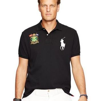 Polo Ralph Lauren Big & Tall Classic-Fit Nautical-Crest Polo Shirt