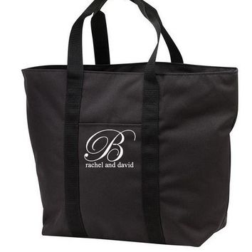 Monogrammed Beach / Honeymoon Wedding Tote