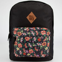 Yea.Nice Floral Backpack Black Combo One Size For Men 23103514901