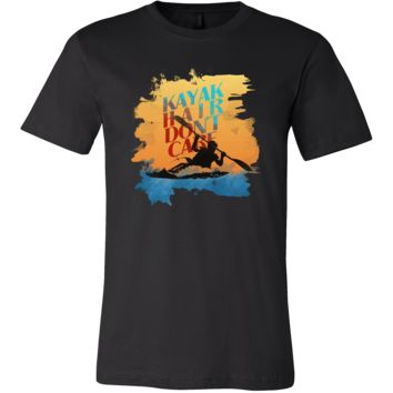 Kayak Hair Don't Care Kaying Water Sports Funny T-shirt
