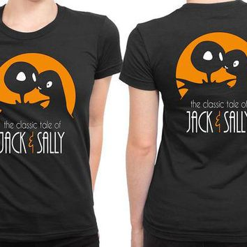 DCCKG72 The Classic Tale Of Jack And Sally 2 Sided Womens T Shirt