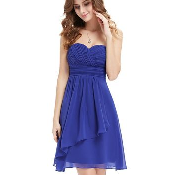 [Clearance Sale] Cocktail Dress HE03540 Ever Pretty Sweetheart Neckline Strapless Short 2018 Vintage Celebrity Cocktail Dresses