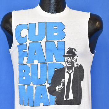 80s Cub Fan Bud Man Harry Caray Budweiser t-shirt Small