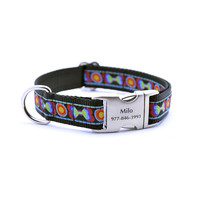 Jacquard Ribbon Collar with Personalized Buckle - Funkadelic Bones