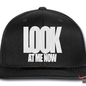 look at me now snapback