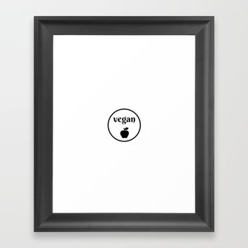 VEGAN APPLE Framed Art Print by Love from Sophie