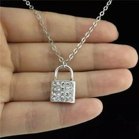 Crystal Lock Necklace