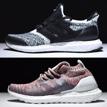 Adidas New SNS Ultra Boost Sneakersnstuff Social Status Man Women Shoes,Kith Multicolor Aspen Boosts sale,Triple Black,White,Oreo,Burgundy Ultras 3
