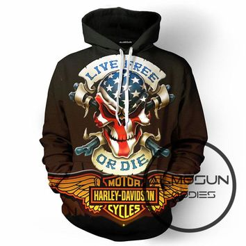 ALMOSUN Live Here or Die Motor Driver 3D All Over Print Pullover Hoodies Hip Hop Sportwear Hipster Jumper Engine Men Women