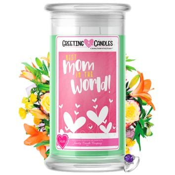 Best Mom In The World! | Jewelry Greeting Candle®