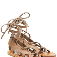 K.Jacques - Leather Lace-Up Sandals