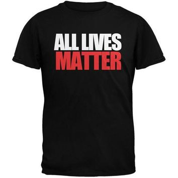 PEAPGQ9 All Lives Matter Military Green Adult T-Shirt