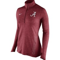 Nike Women's Alabama Crimson Tide Heathered Crimson Stadium Element Performance Half-Zip