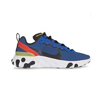 Nike Men's React Element 55 Game Royal Black White Running Shoes