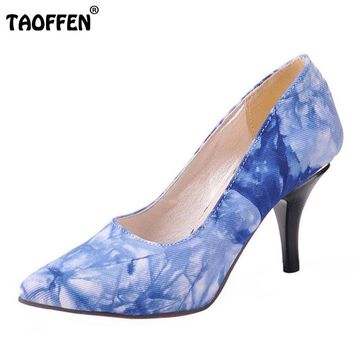 high heel footwear fashion pumps P12406