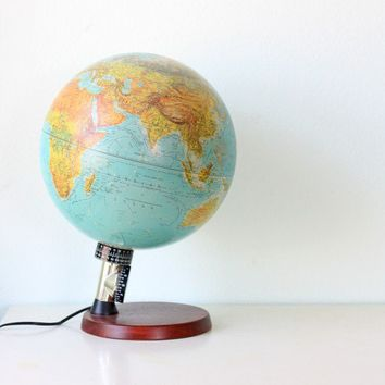 Vintage Lighted Globe made in Denmark by bellalulu on Etsy
