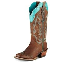 Ariat Women's Caballera Cowgirl Boot Wide Square Toe