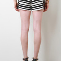 Caged Side Striped Shorts