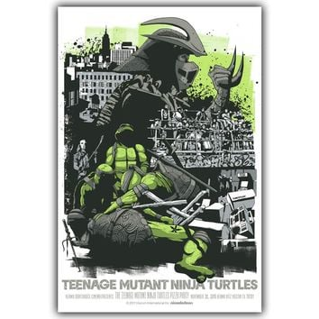Ninja Turtle Art Silk Poster Print 30x45cm 60x90cm Movie Pictures Poster Living Room Decor